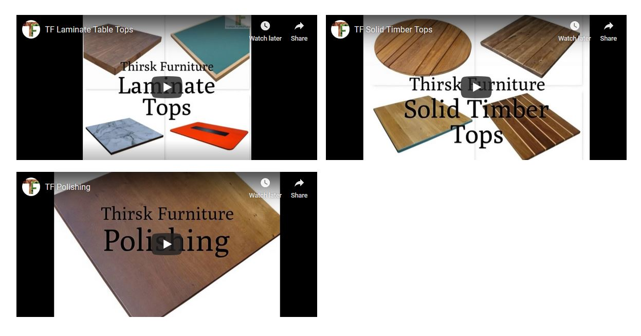 Thirsk Furniture Product Training Videos