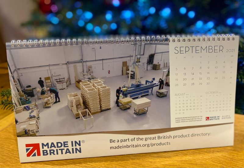 Made In Britain calendar 2021.